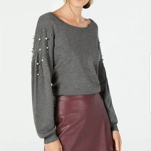 I.N.C Sweater with pearl details